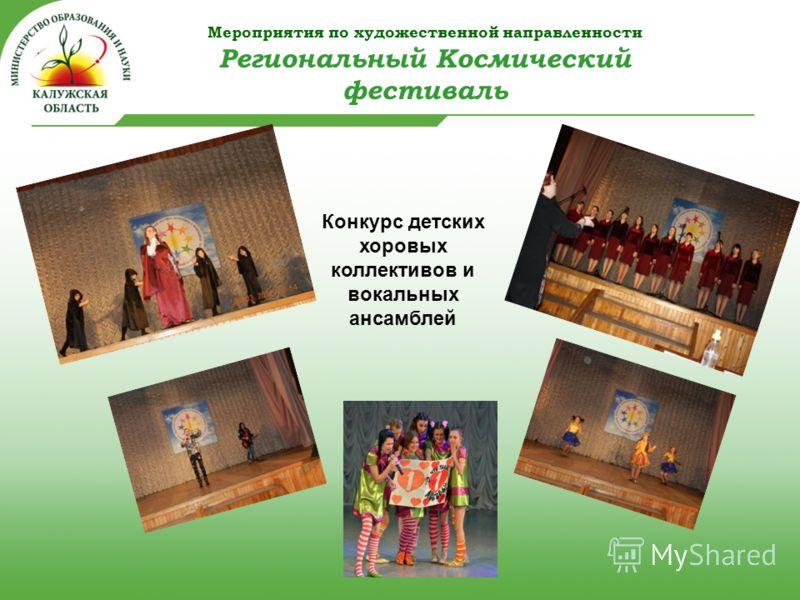 Мероприятия по художественной направленности Региональный Космический фестиваль Конкурс детских хоровых коллективов и вокальных ансамблей
