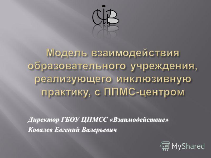 Директор ГБОУ ЦПМСС « Взаимодействие » Ковалев Евгений Валерьевич