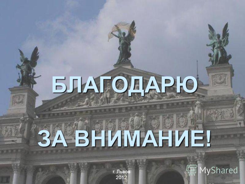 БЛАГОДАРЮ ЗА ВНИМАНИЕ! г. Львов 2012