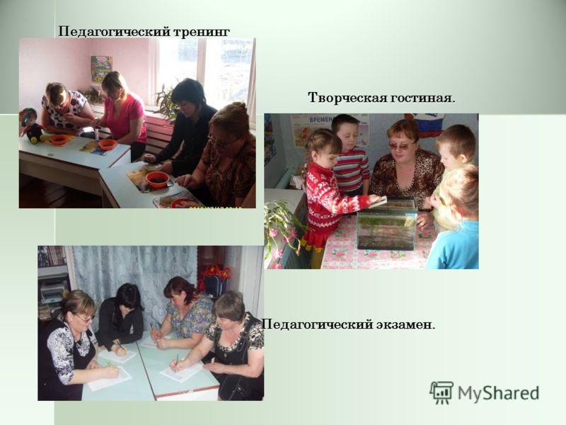 Педагогический тренинг Творческая гостиная. Педагогический экзамен.
