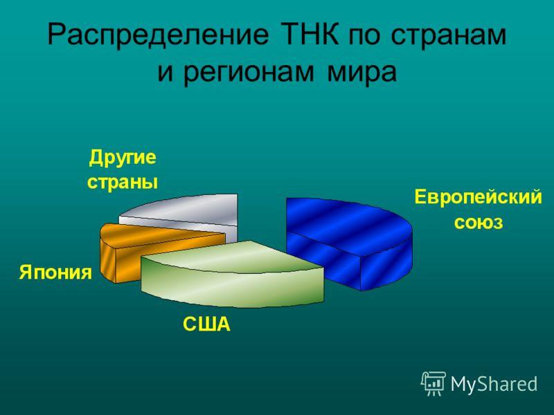 Распределение ТНК по странам и регионам мира