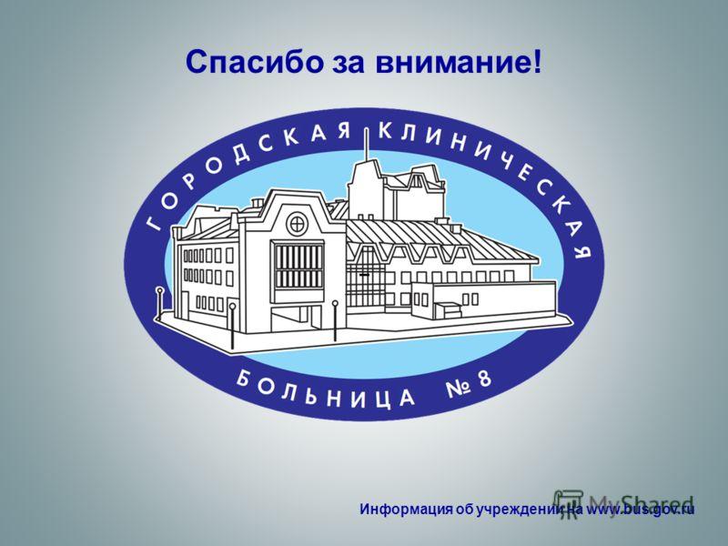 Спасибо за внимание! – Информация об учреждении на www.bus.gov.ru