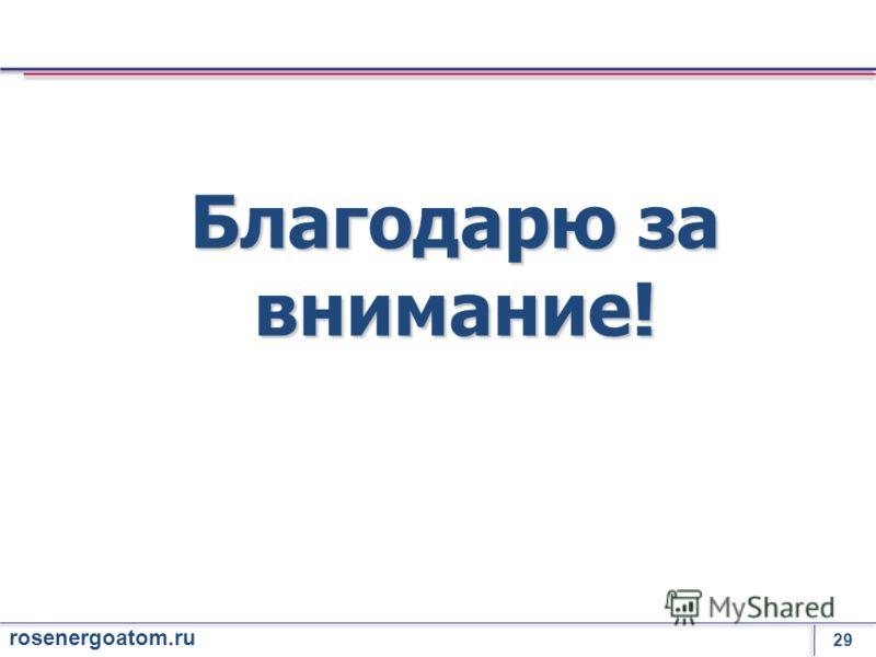 29 rosenergoatom.ru Благодарю за внимание!