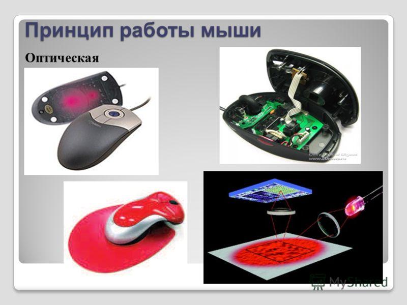 Принцип работы мыши Оптическая мышь