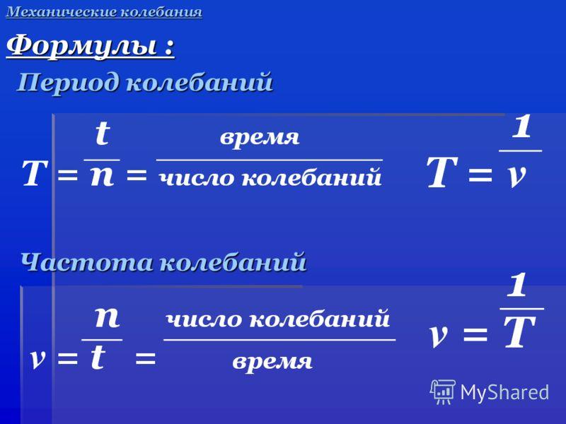 Формула частоты по физике