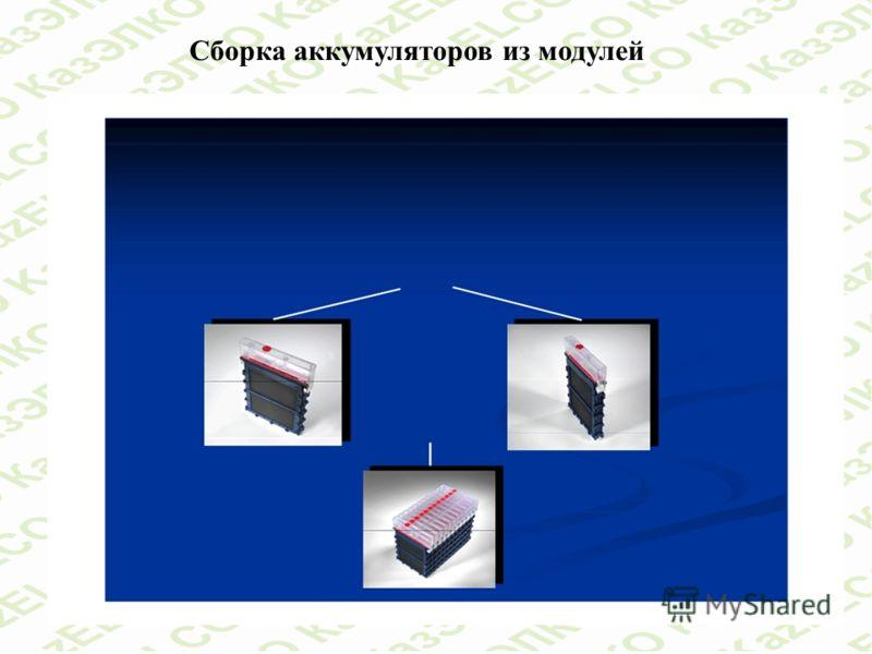 Сборка аккумуляторов из модулей