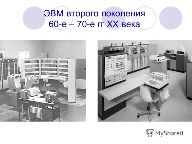 ЭВМ второго поколения 60-е – 70-е гг ХХ века