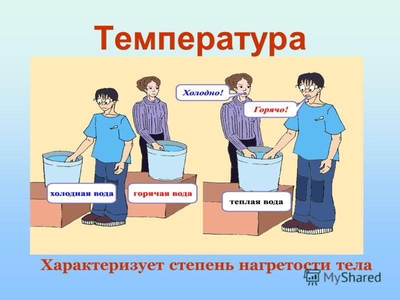 Урок 6 Повторим ! Температура Термометр показывает собственную температуру Температура термометра равна измеряемой температуре Физическая величина => можно измерить Зависит от скорости движения молекул