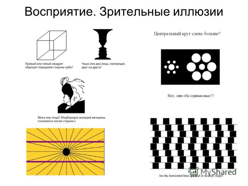 Восприятие. Зрительные иллюзии
