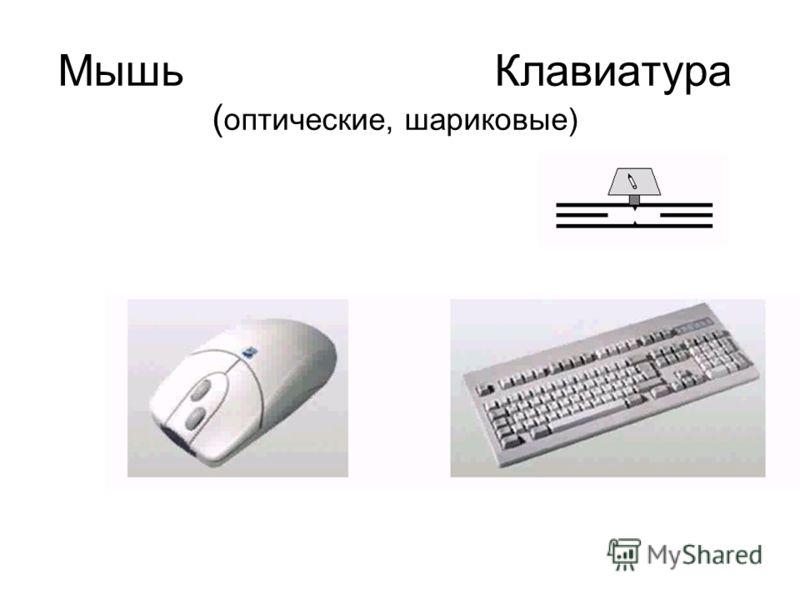 Мышь Клавиатура ( оптические, шариковые)