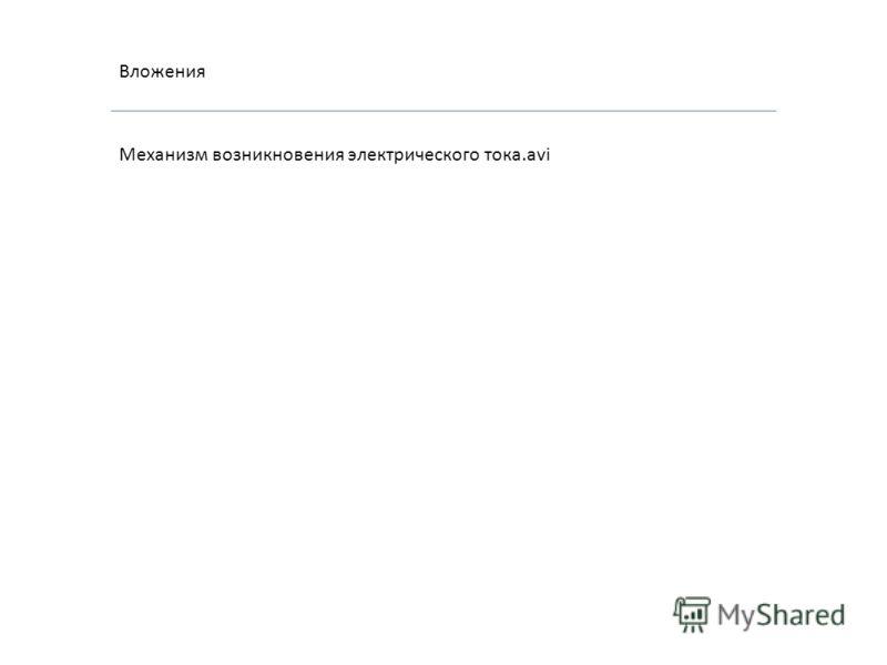Вложения Механизм возникновения электрического тока.avi