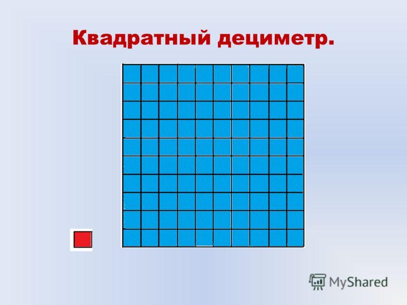 Квадратный дециметр.