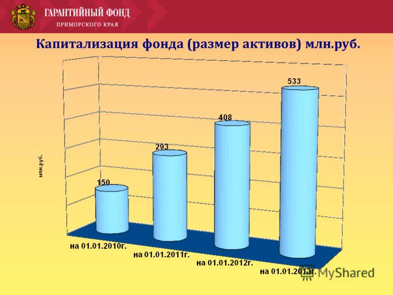 Капитализация фонда (размер активов) млн.руб.