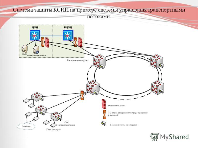 Система защиты КСИИ на примере системы управления транспортными потоками.