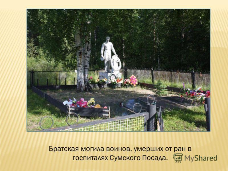 Братская могила воинов, умерших от ран в госпиталях Сумского Посада.
