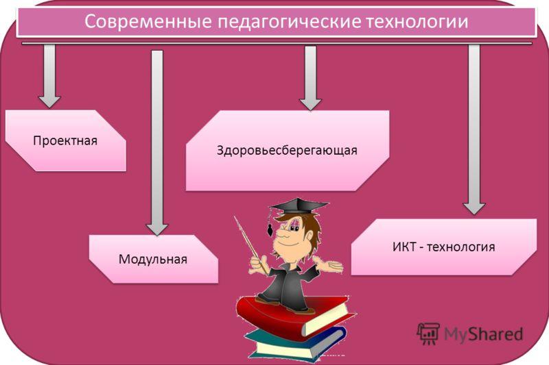 Современные педагогические технологии Проектная Здоровьесберегающая ИКТ - технология Модульная
