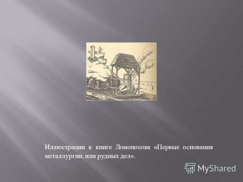 Иллюстрации к книге Ломоносова « Первые основания металлургии, или рудных дел ».
