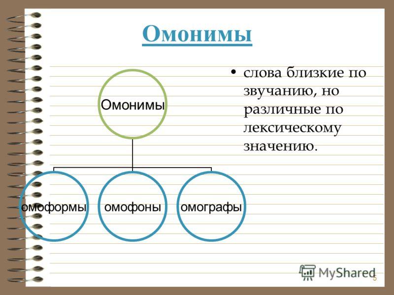 Омонимы слова близкие по звучанию, но различные по лексическому значению. Омонимы омоформыомофоныомографы 5