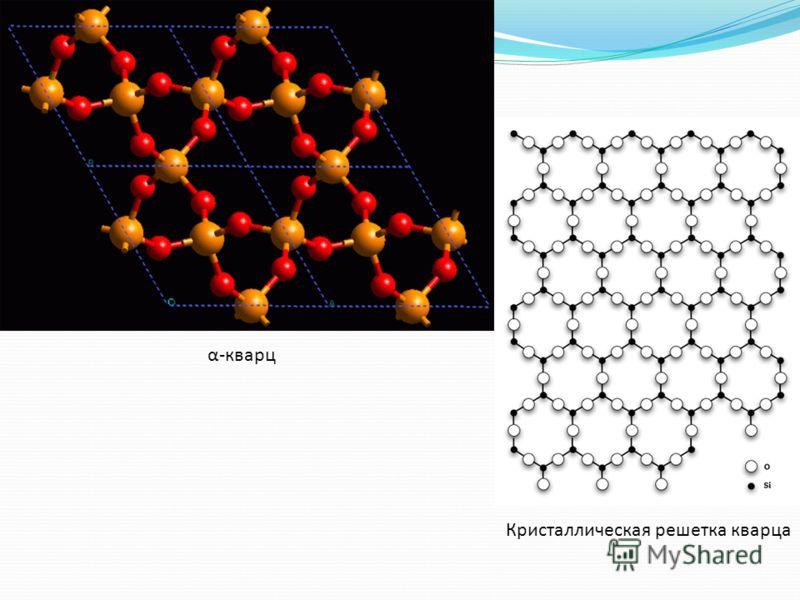 α-кварц Кристаллическая решетка кварца