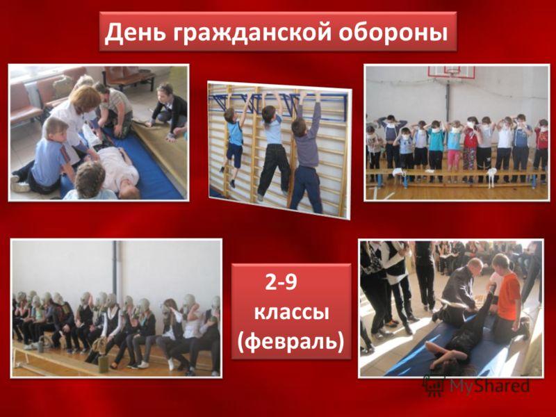День гражданской обороны 2-9 классы (февраль) 2-9 классы (февраль)
