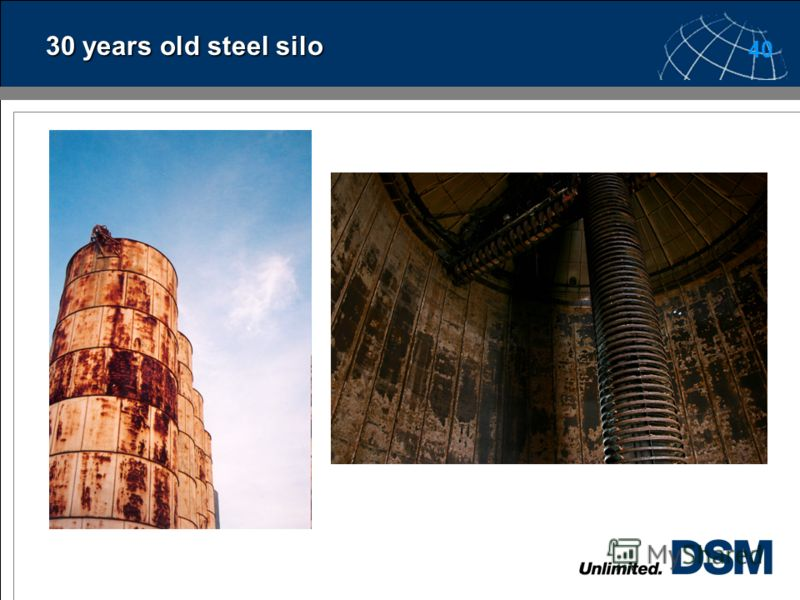 39 30 years old GRP silo