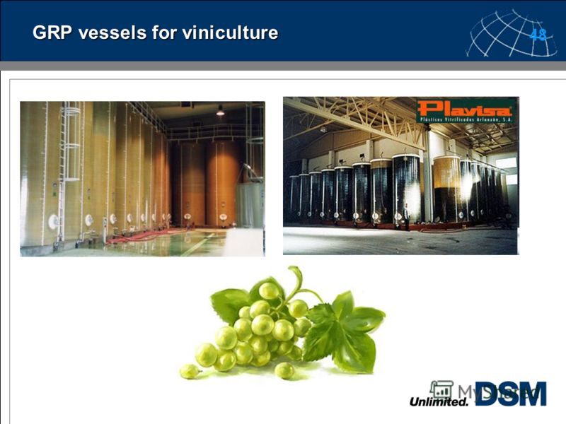 47 GRP vessels for viniculture