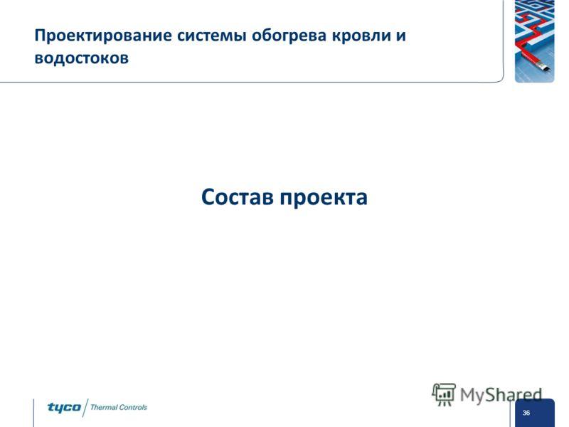 Private and Confidential 36 Проектирование системы обогрева кровли и водостоков Состав проекта