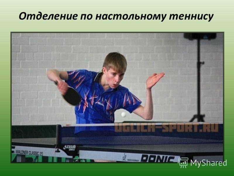 Отделение по настольному теннису