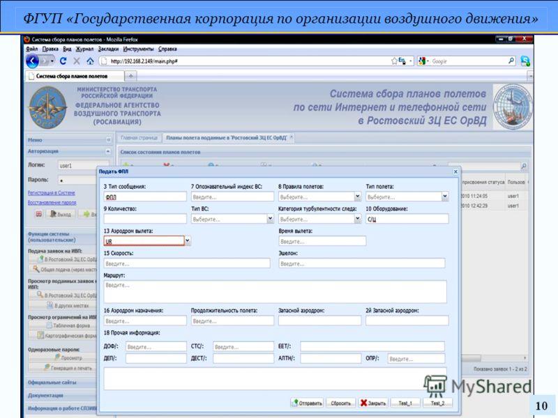 ФГУП «Государственная корпорация по организации воздушного движения» 10