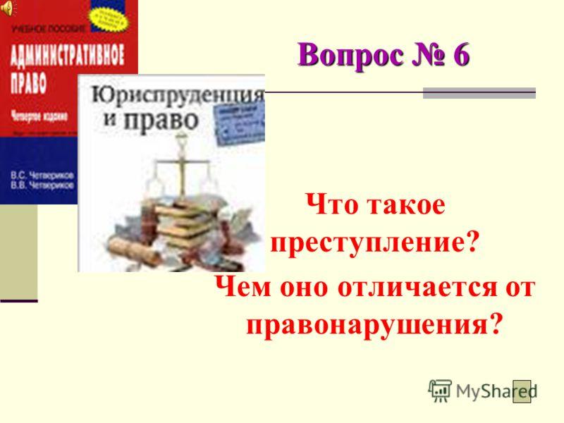 Вопрос 5 Если вдруг совершается правонарушение, наступает административная ответственность. Она определяется Кодексом Приднестровской Молдавской Республики об административных правонарушениях