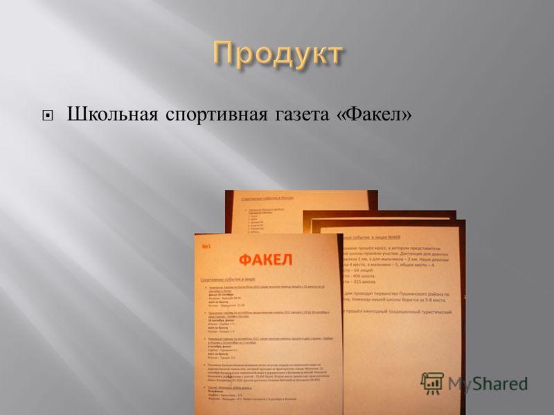 Школьная спортивная газета « Факел »