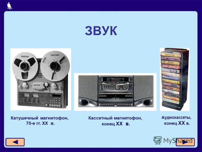 ЗВУК Катушечный магнитофон, 70-е гг. XX в. Кассетный магнитофон, конец XX в. Аудиокассеты, конец XX в.