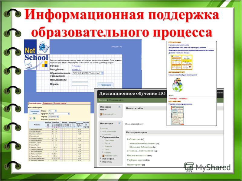 Информационная поддержка образовательного процесса