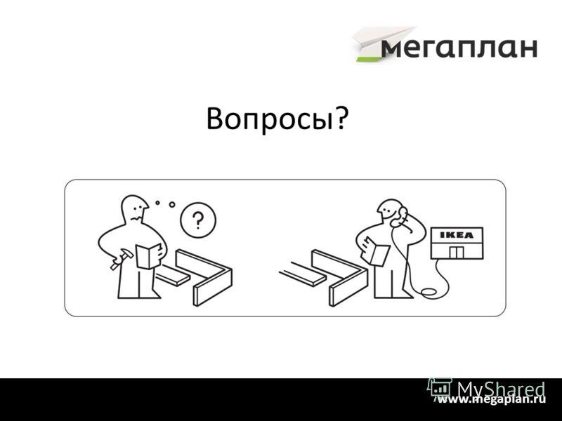 Вопросы? www.megaplan.ru