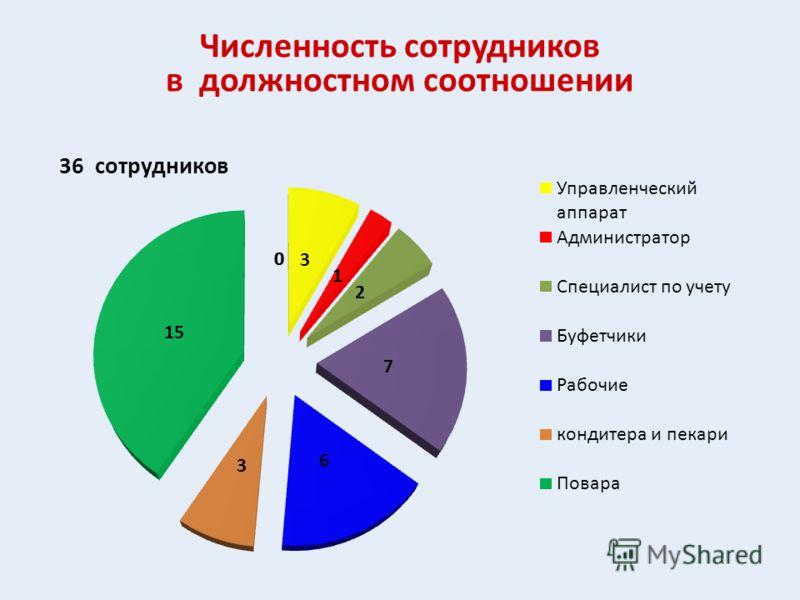 Численность сотрудников в должностном соотношении