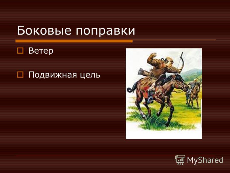 Боковые поправки Ветер Подвижная цель