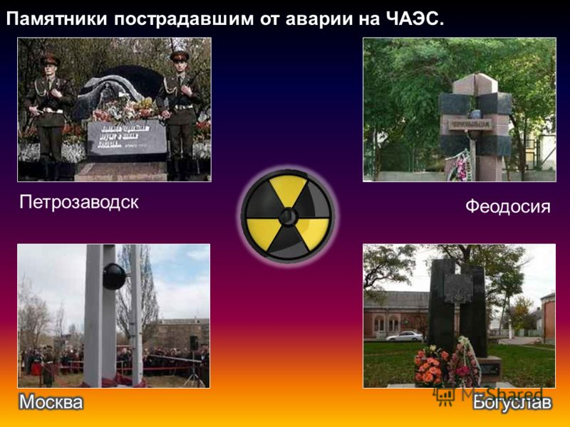 Памятники пострадавшим от аварии на ЧАЭС. Петрозаводск Феодосия