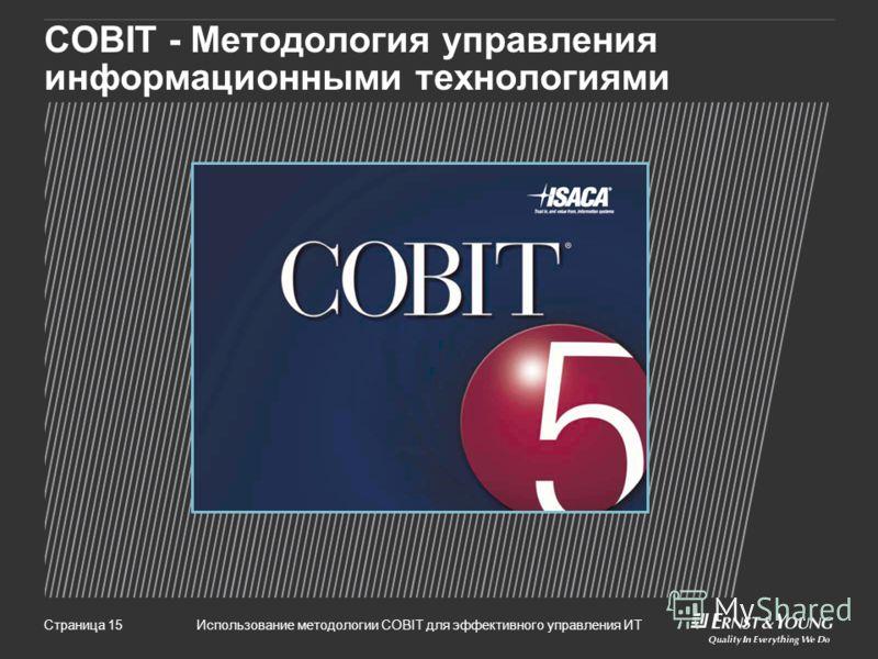 Использование методологии COBIT для эффективного управления ИТСтраница 15 COBIT - Методология управления информационными технологиями
