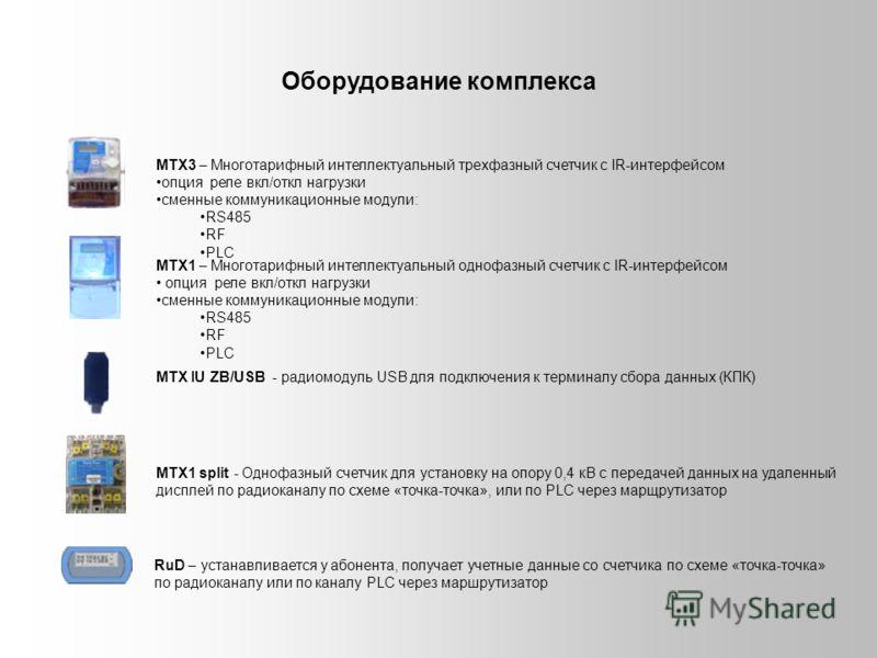 МТХ3 – Многотарифный интеллектуальный трехфазный счетчик с IR-интерфейсом опция реле вкл/откл нагрузки сменные коммуникационные модули: RS485 RF PLC МТХ1 – Многотарифный интеллектуальный однофазный счетчик с IR-интерфейсом опция реле вкл/откл нагрузк