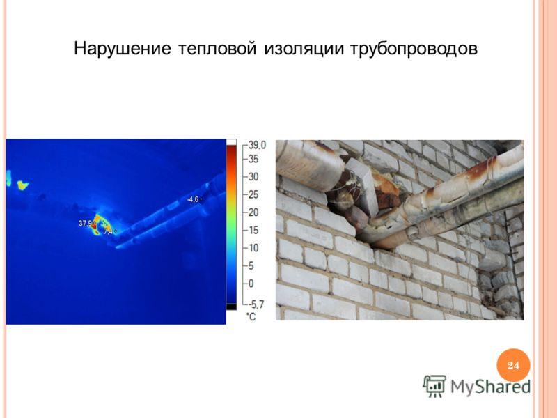 24 Нарушение тепловой изоляции трубопроводов
