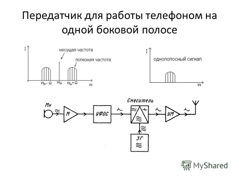 Передатчик для работы телефоном на одной боковой полосе мощность