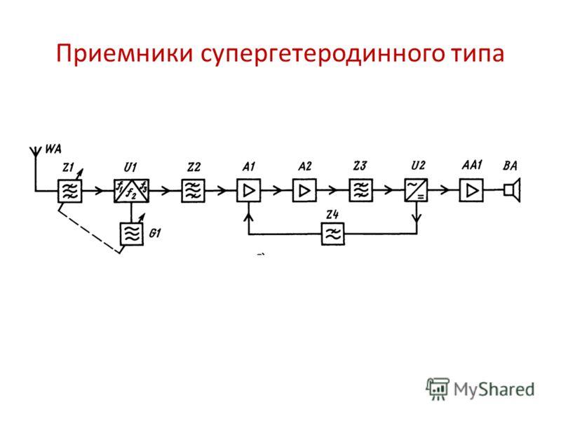 Приемники супергетеродинного типа приемник