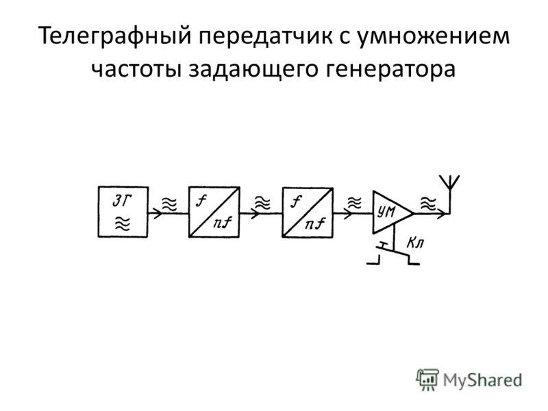Телеграфный передатчик с умножением частоты задающего генератора