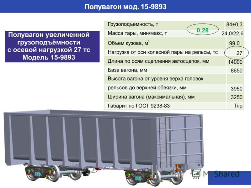 Полувагон мод. 15-9893 0,28
