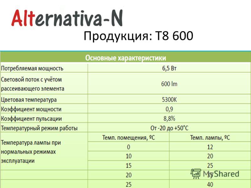 Продукция: Т8 600