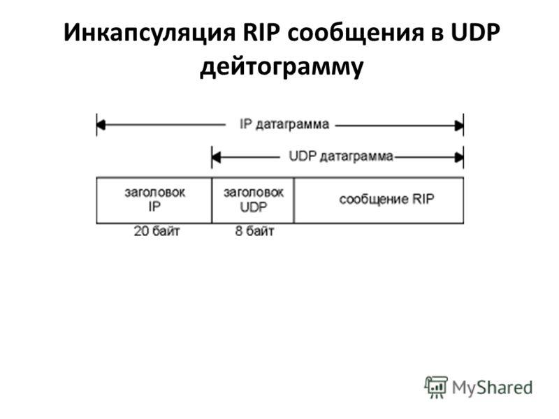 Инкапсуляция RIP сообщения в UDP дейтограмму