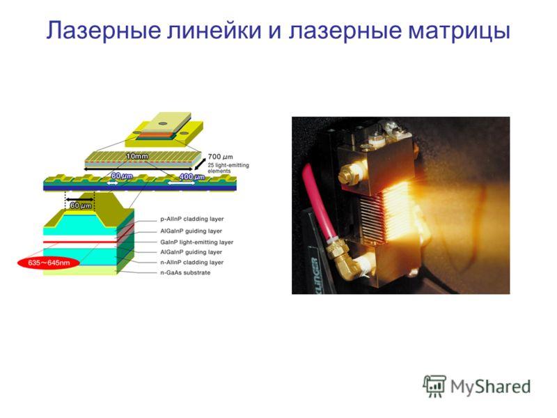 Лазерные линейки и лазерные матрицы