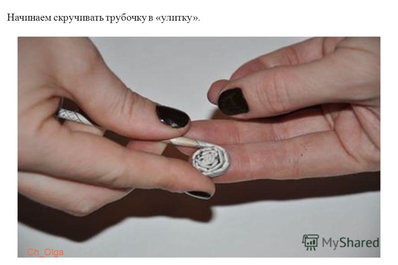 Ch_Olga Начинаем скручивать трубочку в «улитку».