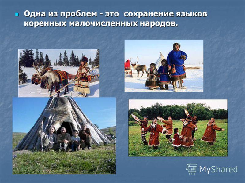 Одна из проблем - это сохранение языков коренных малочисленных народов. Одна из проблем - это сохранение языков коренных малочисленных народов.