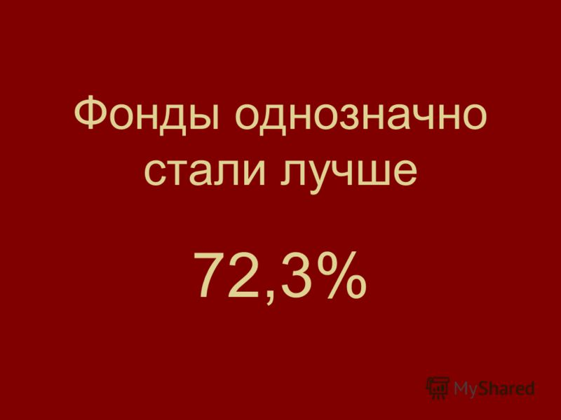 Фонды однозначно стали лучше 72,3%